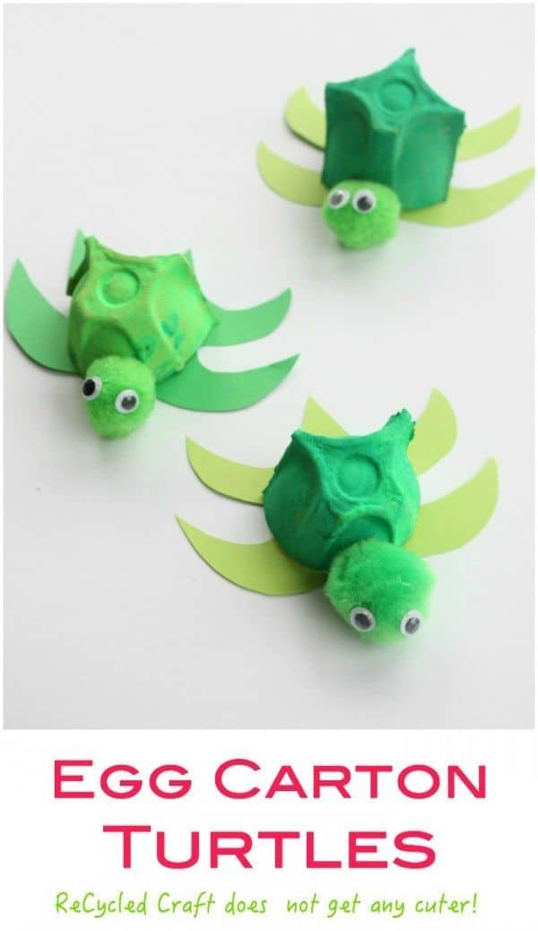 Egg carton sea turtles