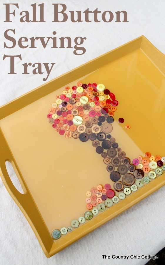 Fall button serving tray