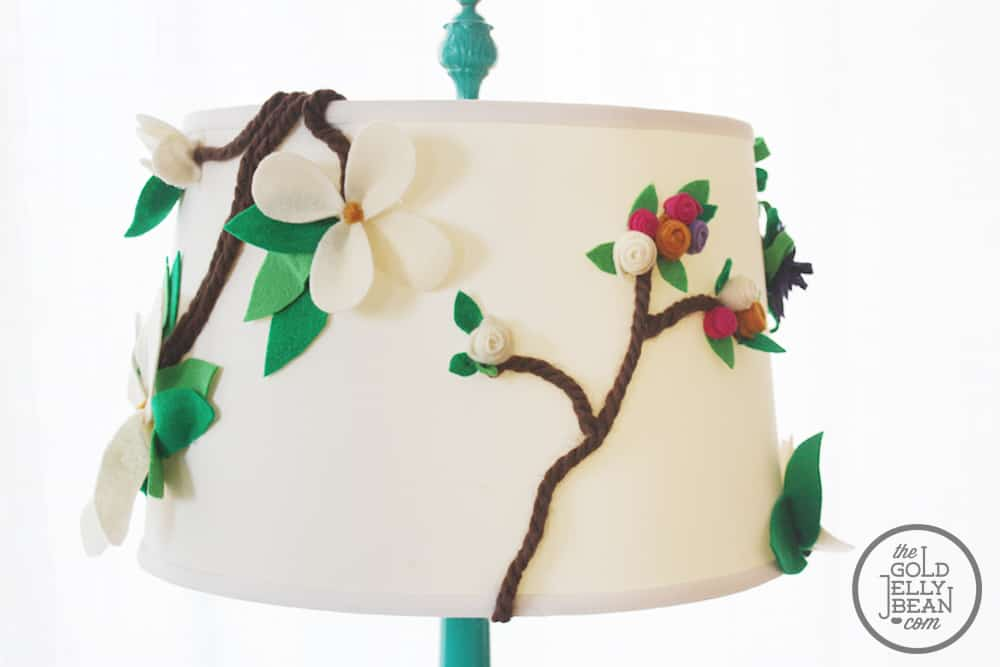 Floral lamp shade diy