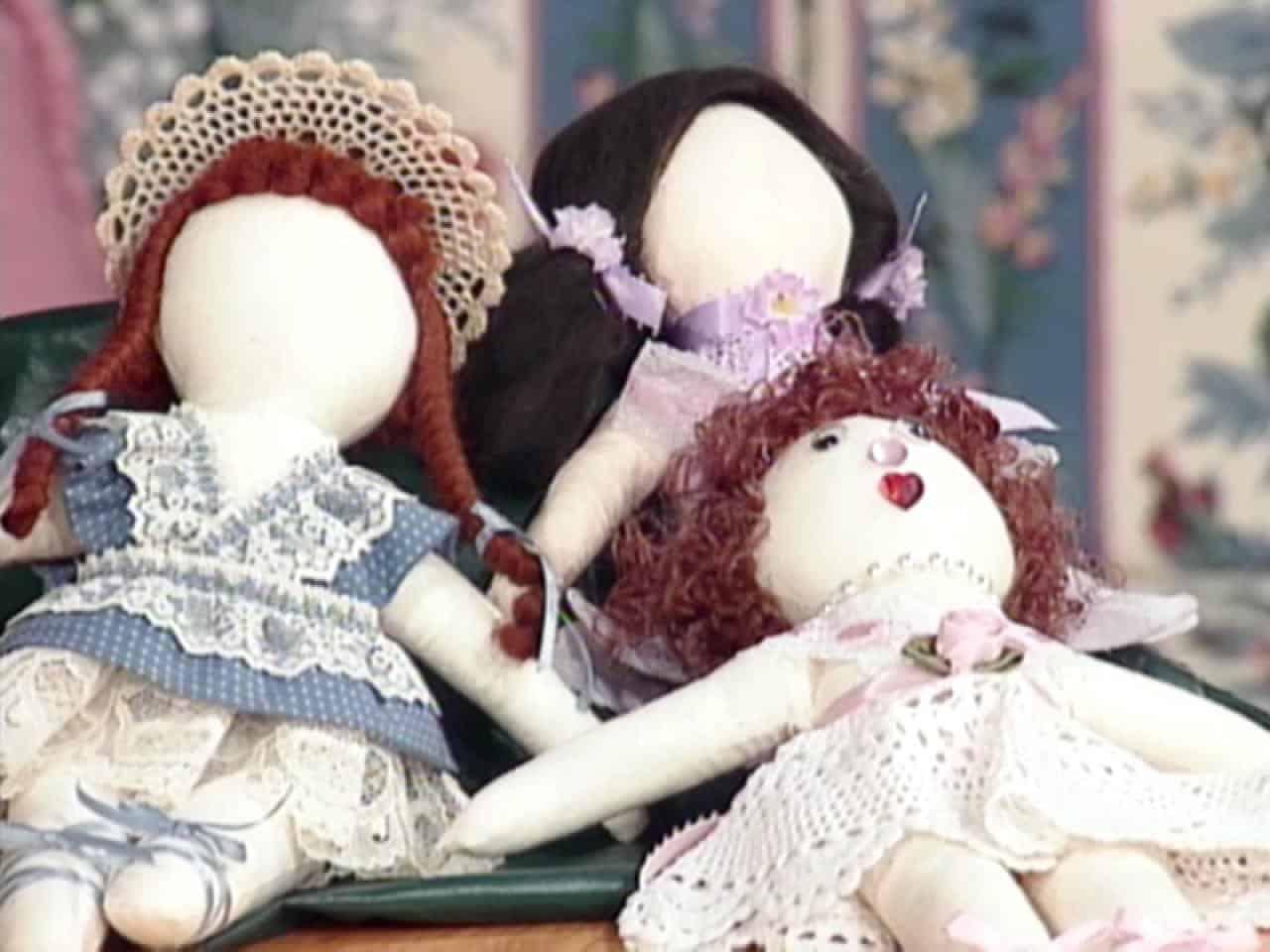 Folk style rag doll