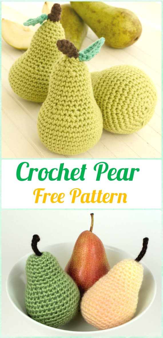 Free crocheted pear pattern