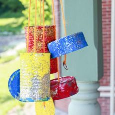 Fun and simple tin can wind chimes