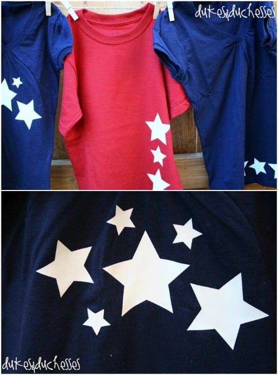 Glow in the dark star shirts