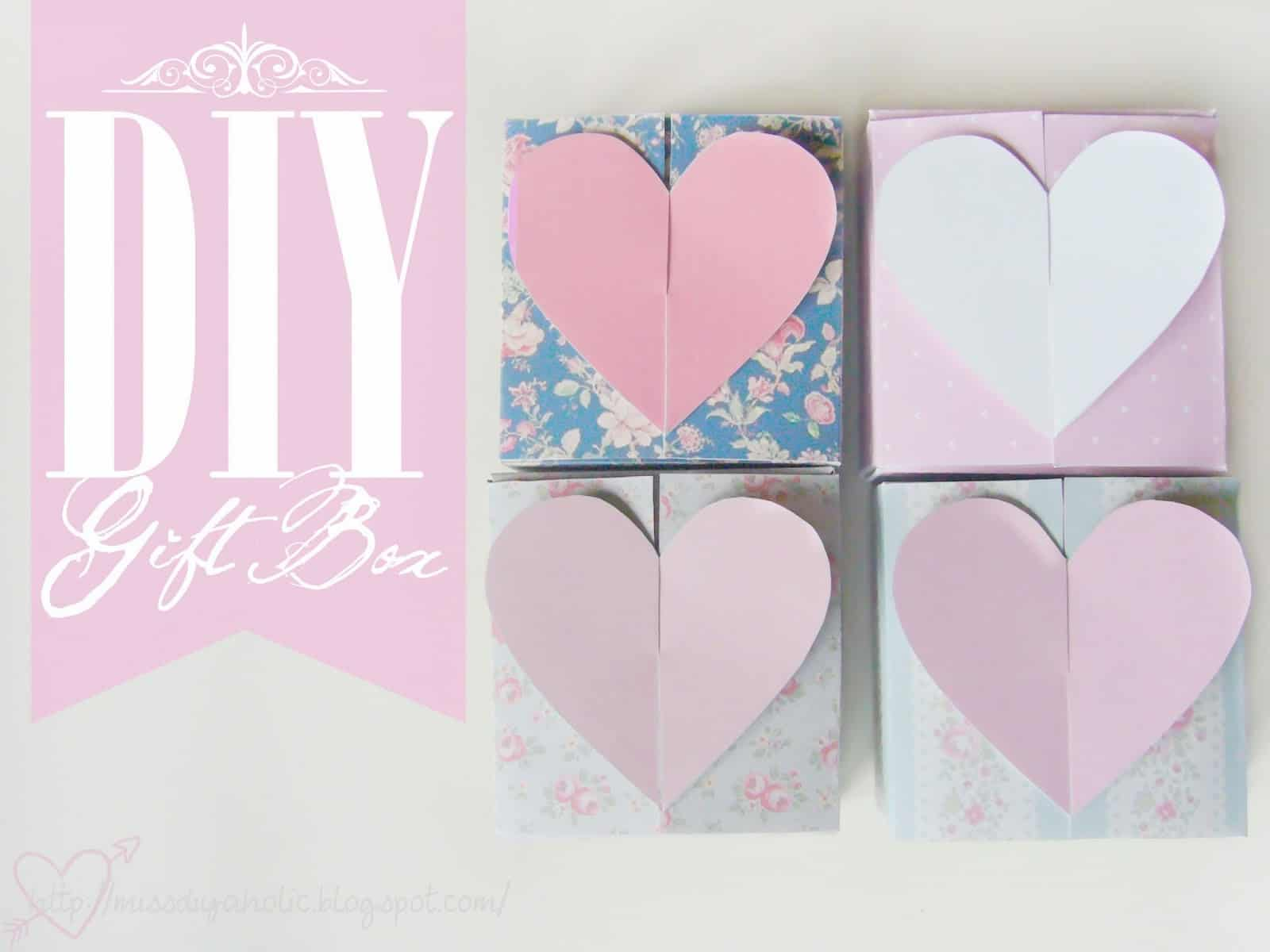 Heart shaped clasping gift boxes