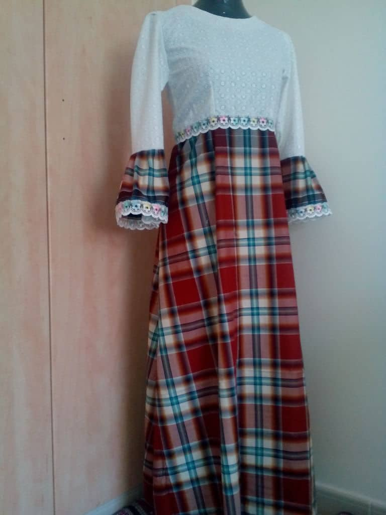 Lacy a line tartan dress