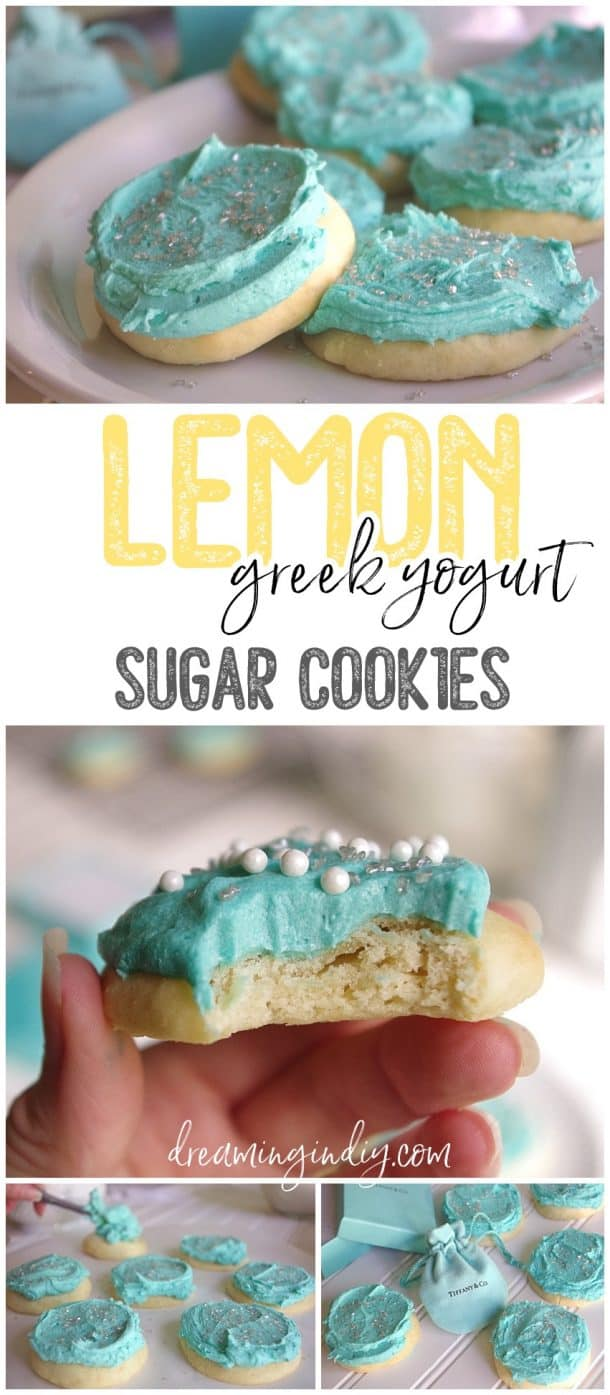 Lemon greek yogurt sugar cookies
