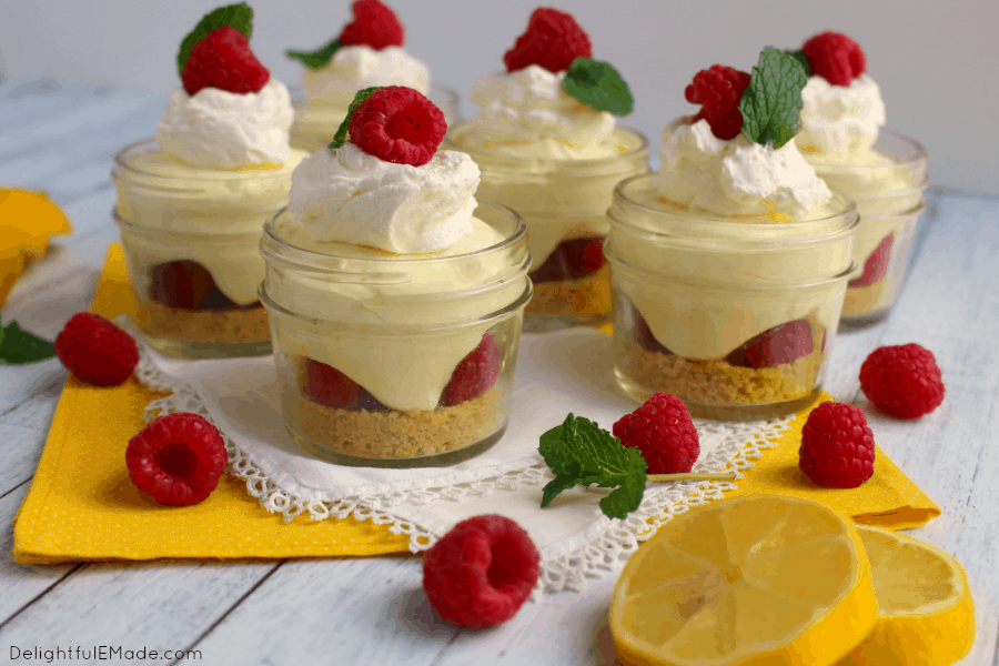 Lemon raspberry no bake cheesecake