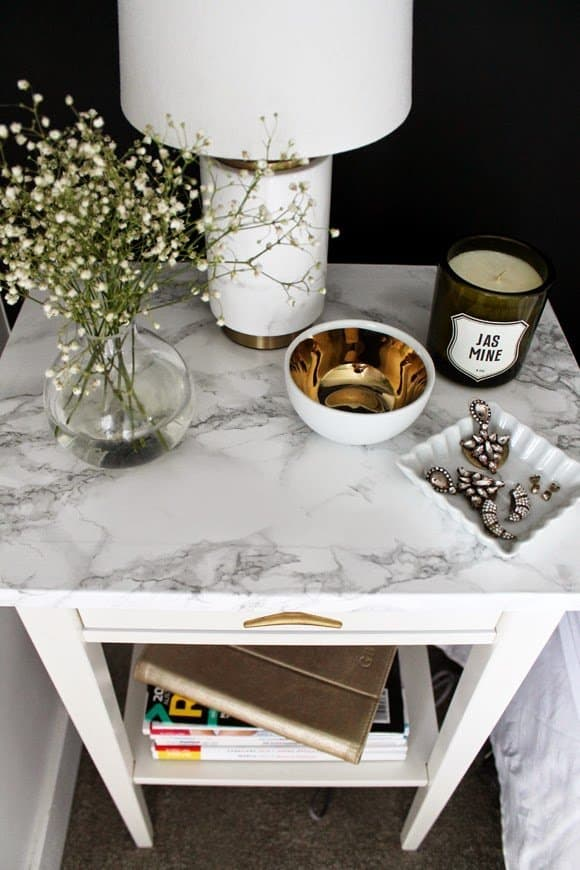 Marble nightstand diy