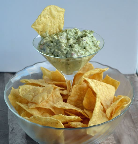 Margarita glass elevated chip bowl
