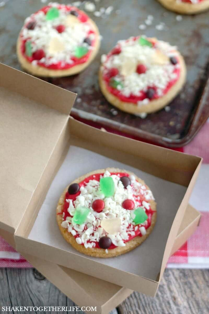 Mini pizza sugar cookies