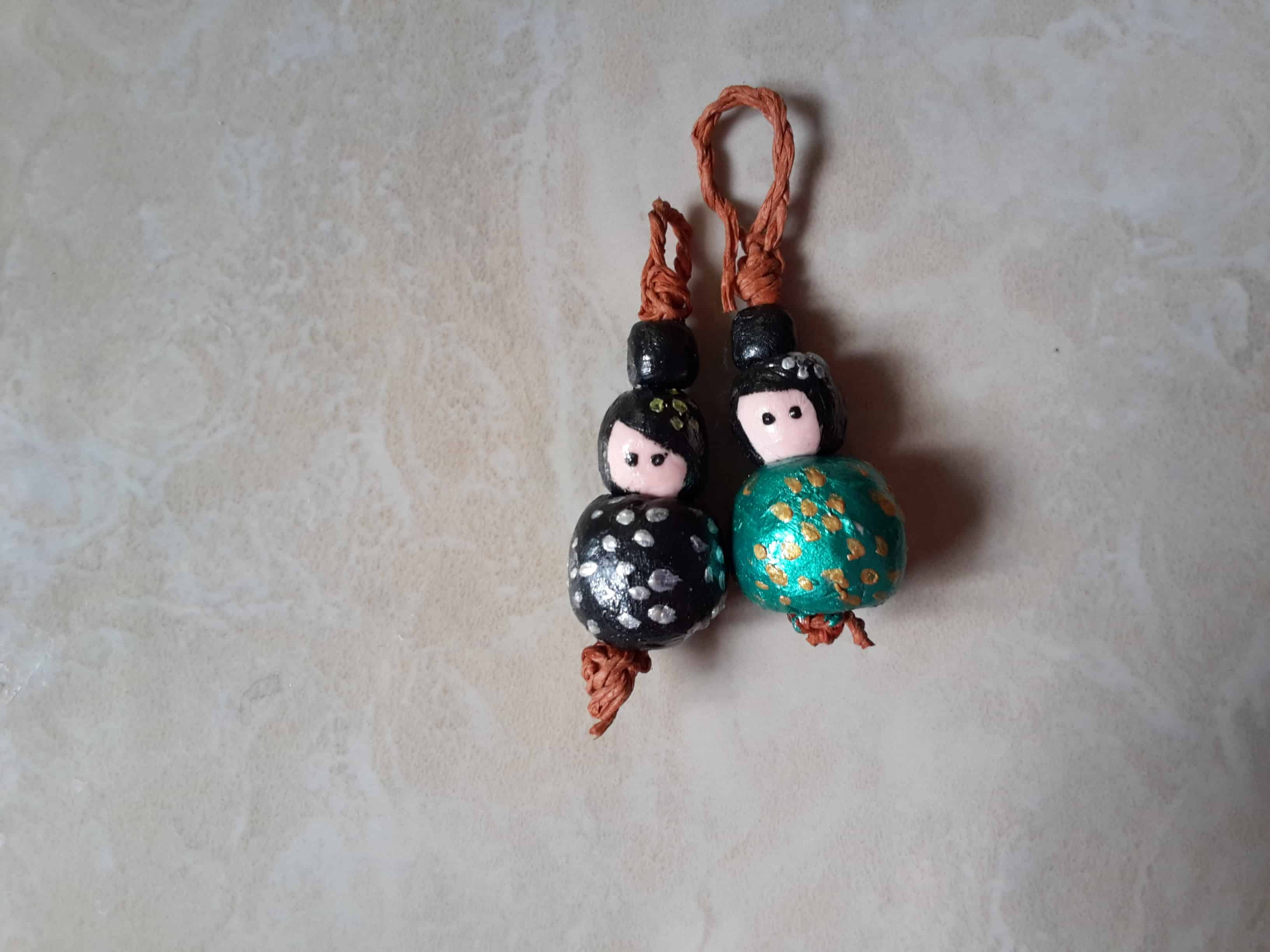Miniature bead dolls