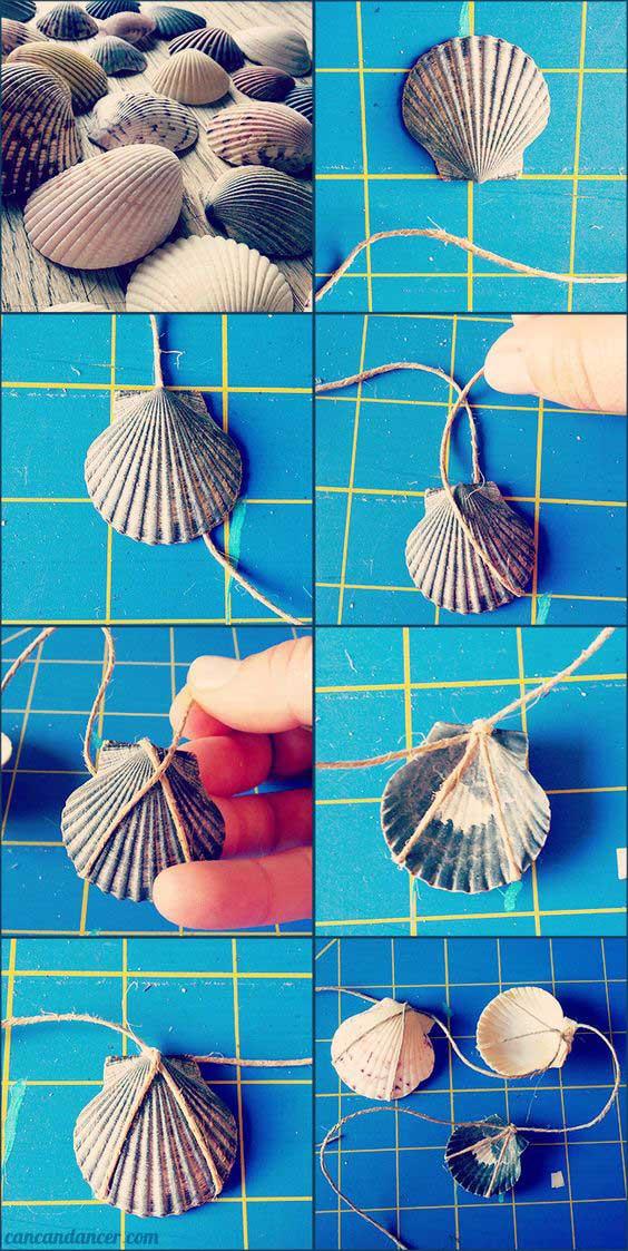 Nautical seashell garden
