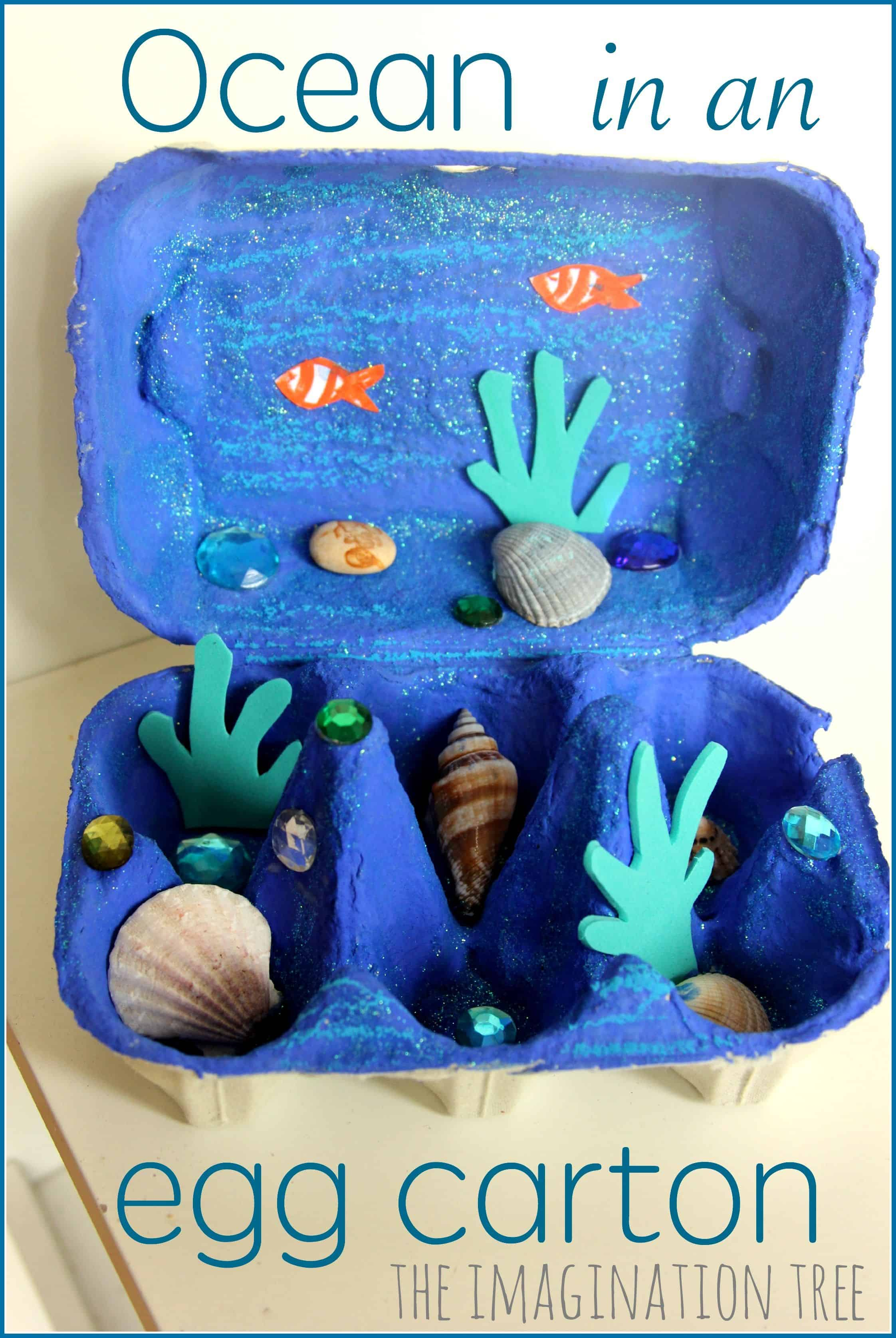 Ocean in an egg carton