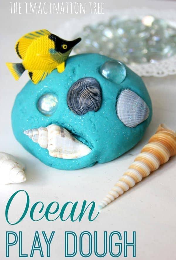 Ocean play dough craft