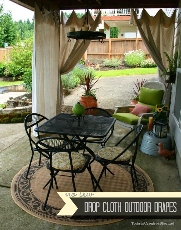 Outdoor patio drapes