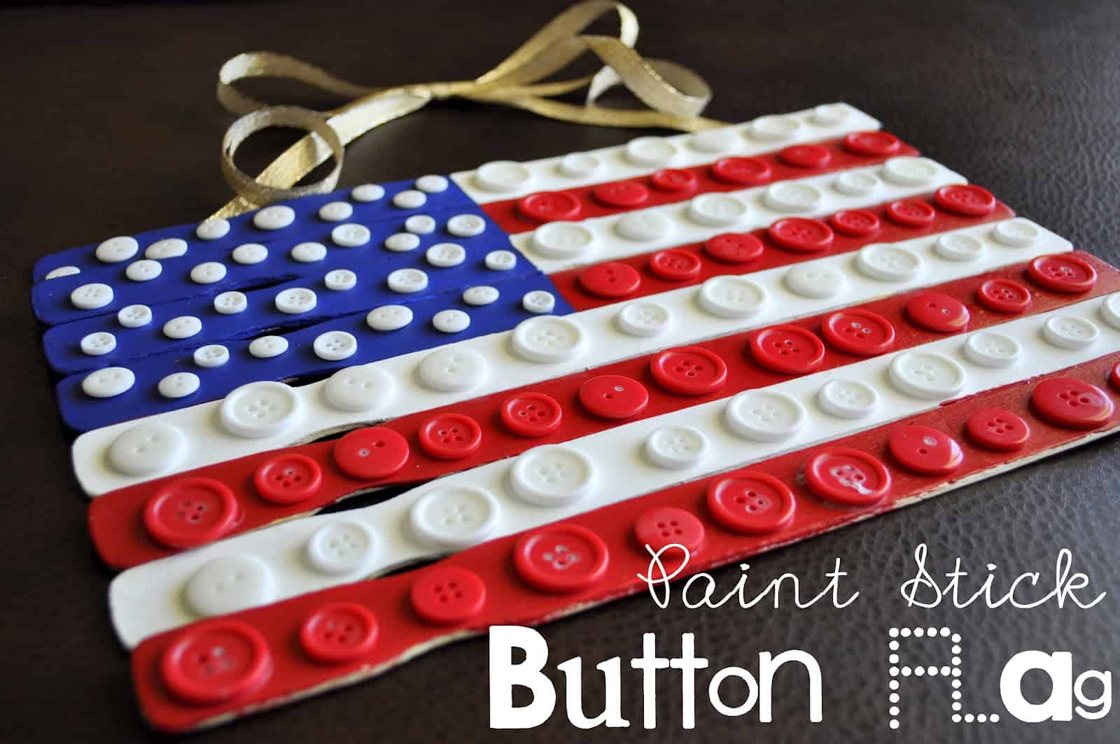 Paint stick and button flags