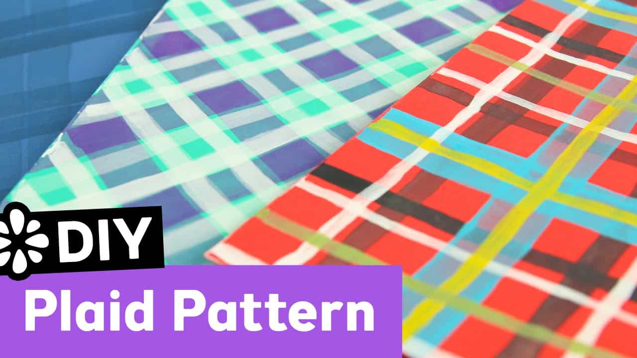 Painted diy plaid pattern