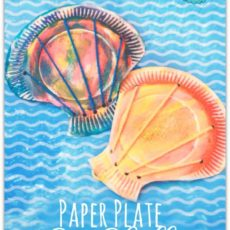 Painted paper plate and yarn seashells