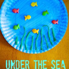 Paper plate and goldfish cracker craft