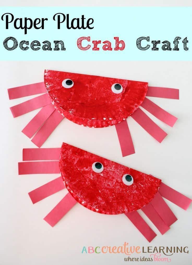 Paper plate ocean crabs