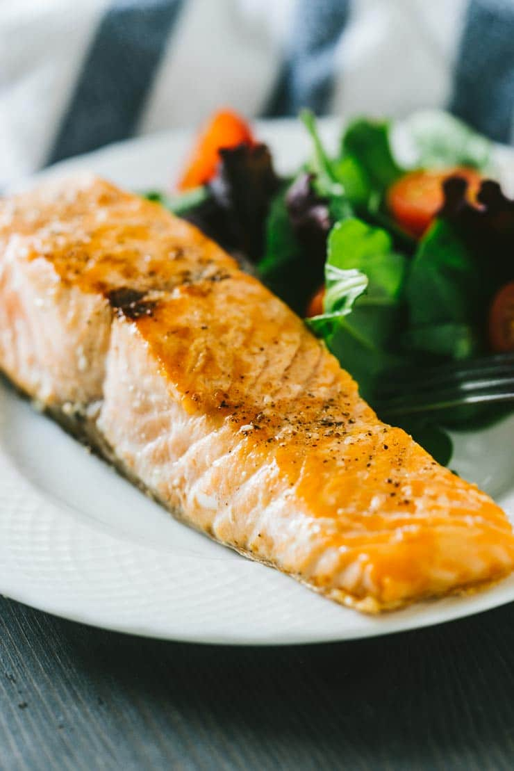 Perfect pan fried salmon