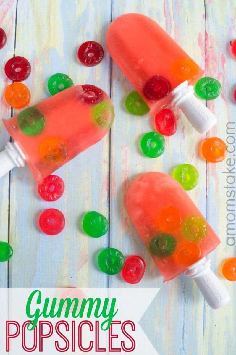 Quick gummy popsicles