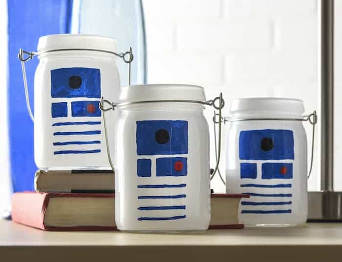 R2 d2 glass jar luminaries