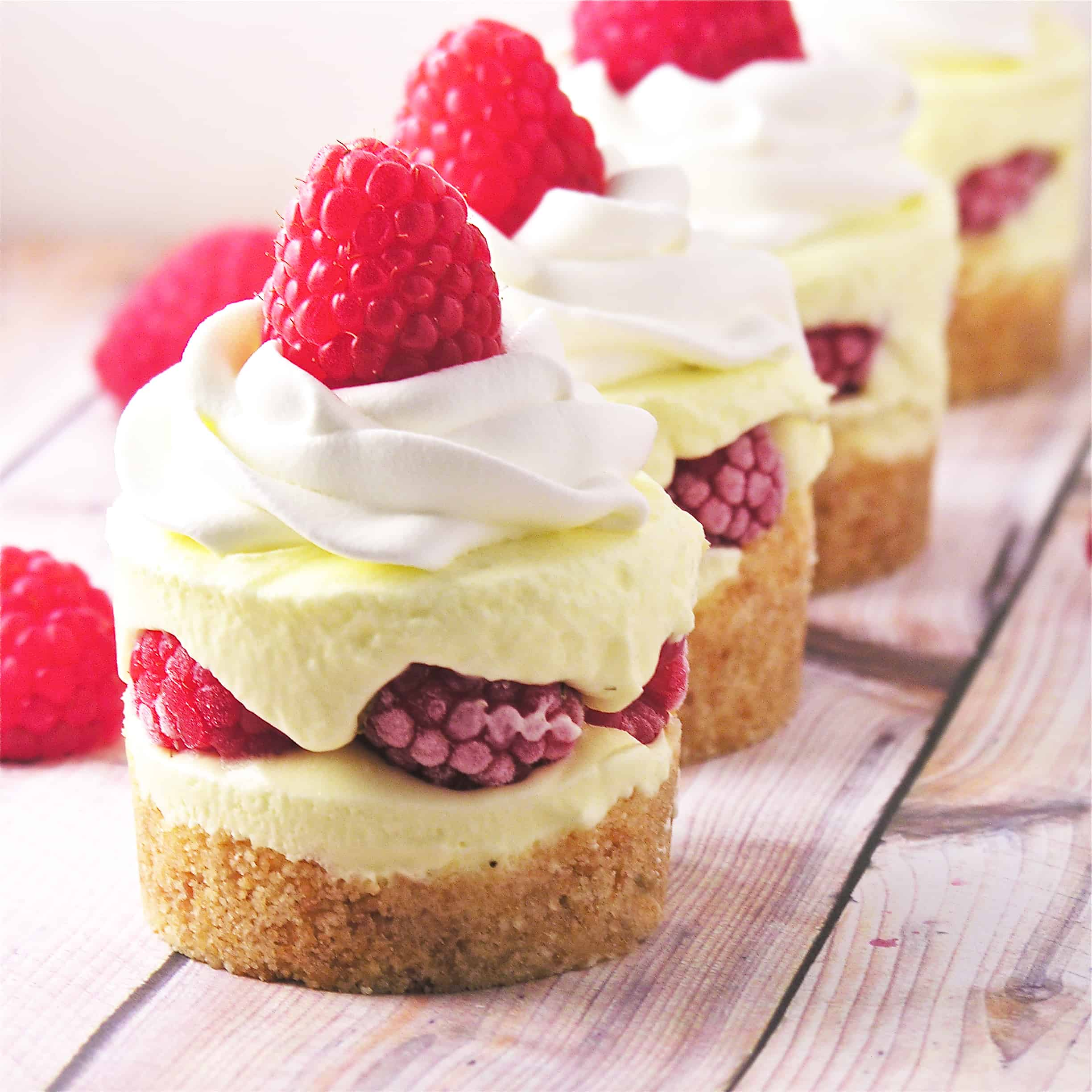 Raspberry lemon cream cups