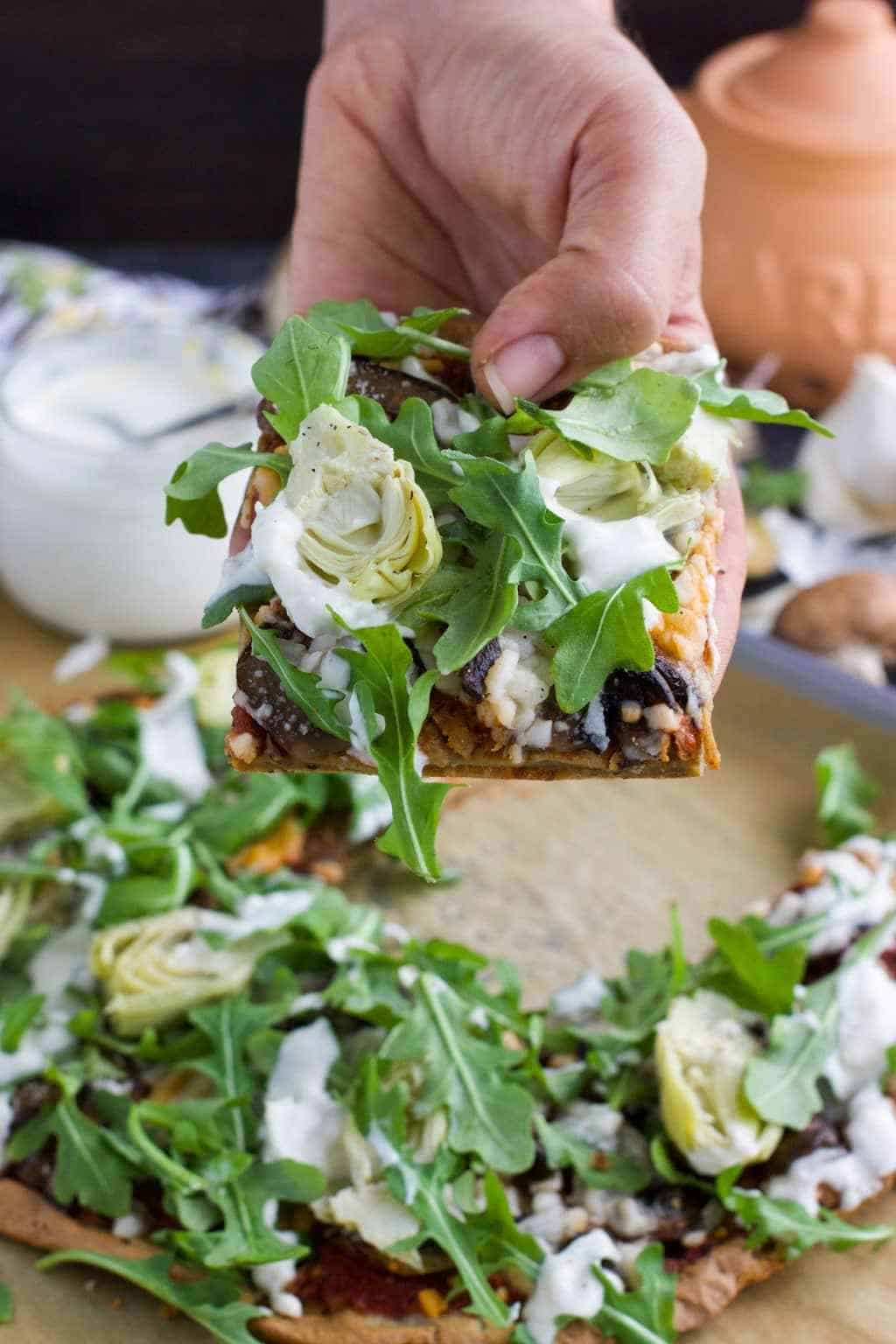 Sheet pan quinoa pizza crust