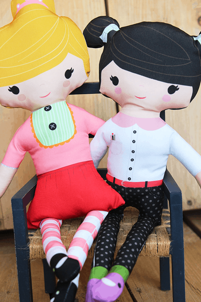 Simple cut and sew doll
