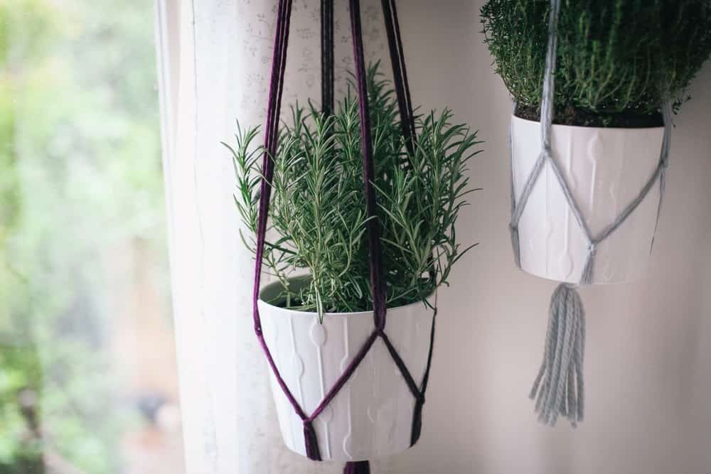 Simple knotted yarn hangers