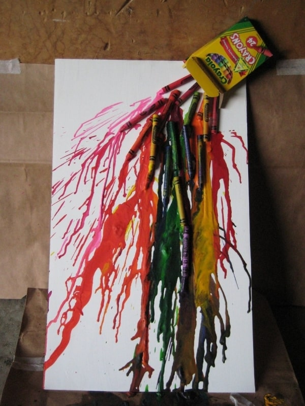 Splashing crayon box art