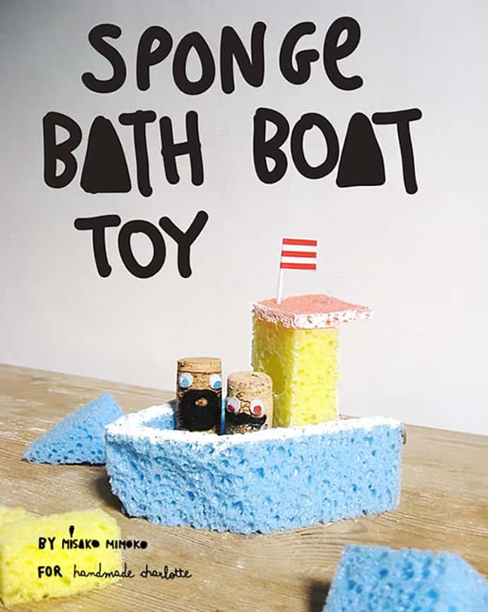 Sponge boat bath toy