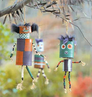 Spooky tin can monsters
