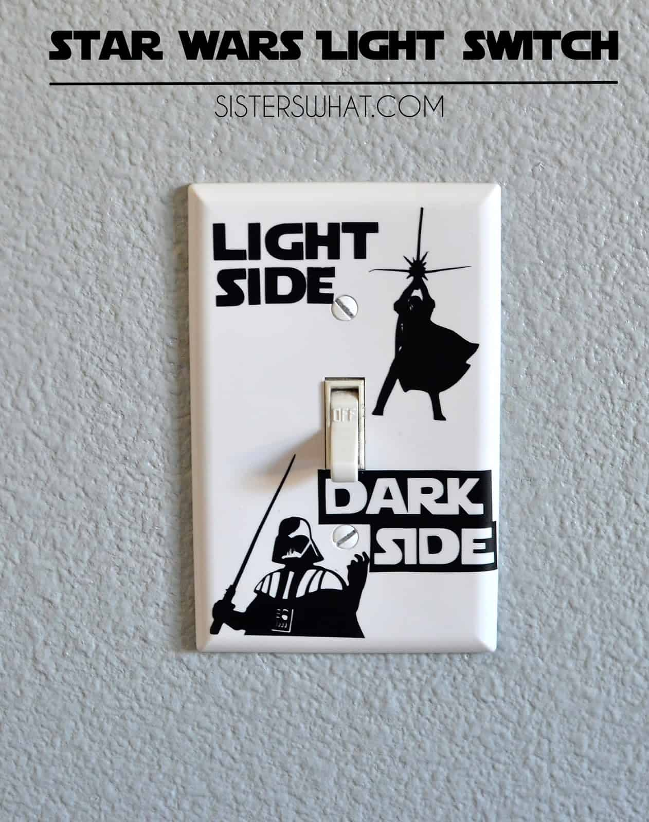 Star wars silhouette light switch