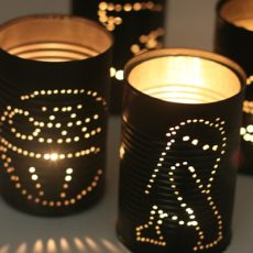 Star wars tin can lanterns
