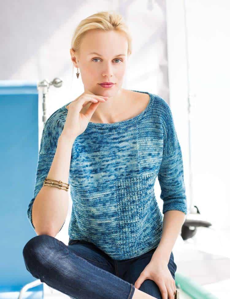 Stitch sampler pullover