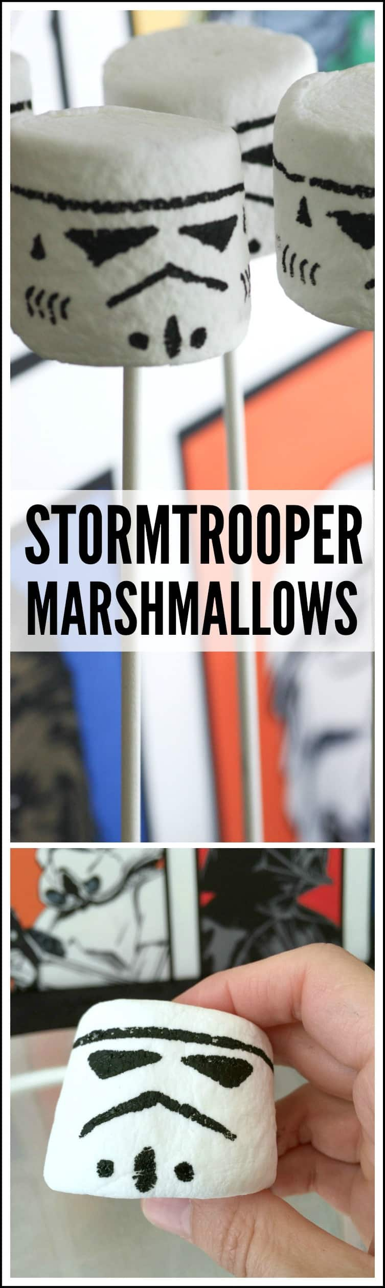 Storm trooper marshmallow pops