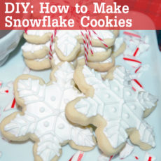 Sugar cookie snowflakes