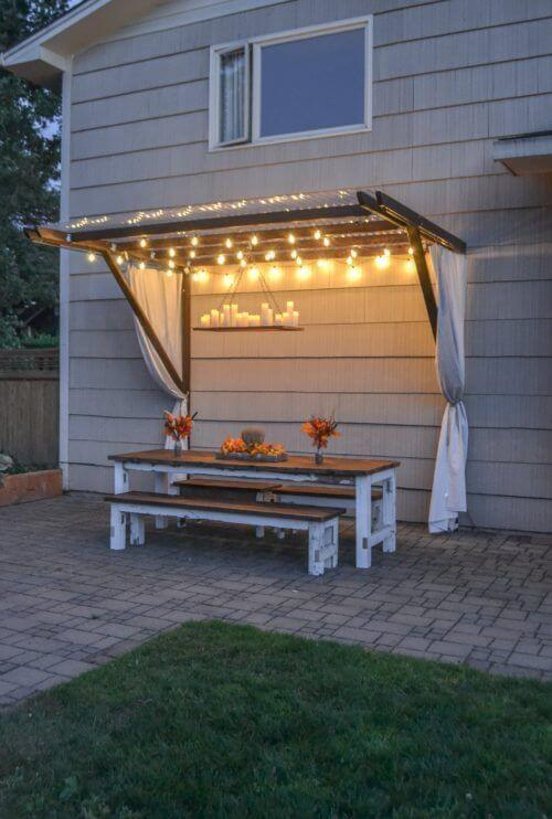 Summer splendor fairy lights patio canopy