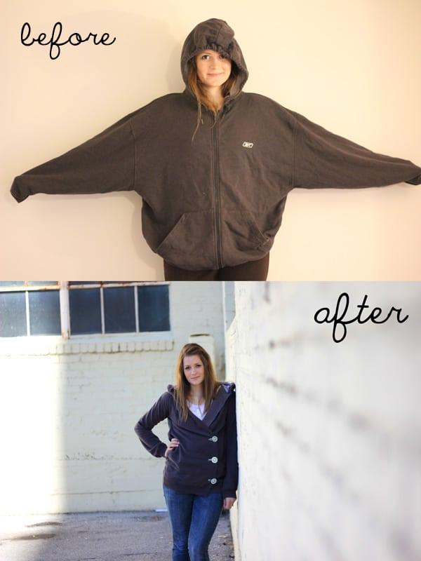 Sweatshirt liposuction