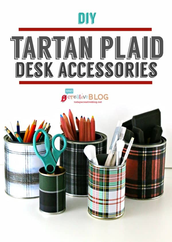 Tartan and plaid desk accessories