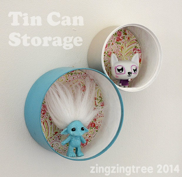 Tin can mini shelves