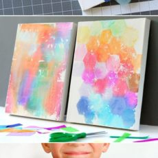 Tissue paper watercolour craft