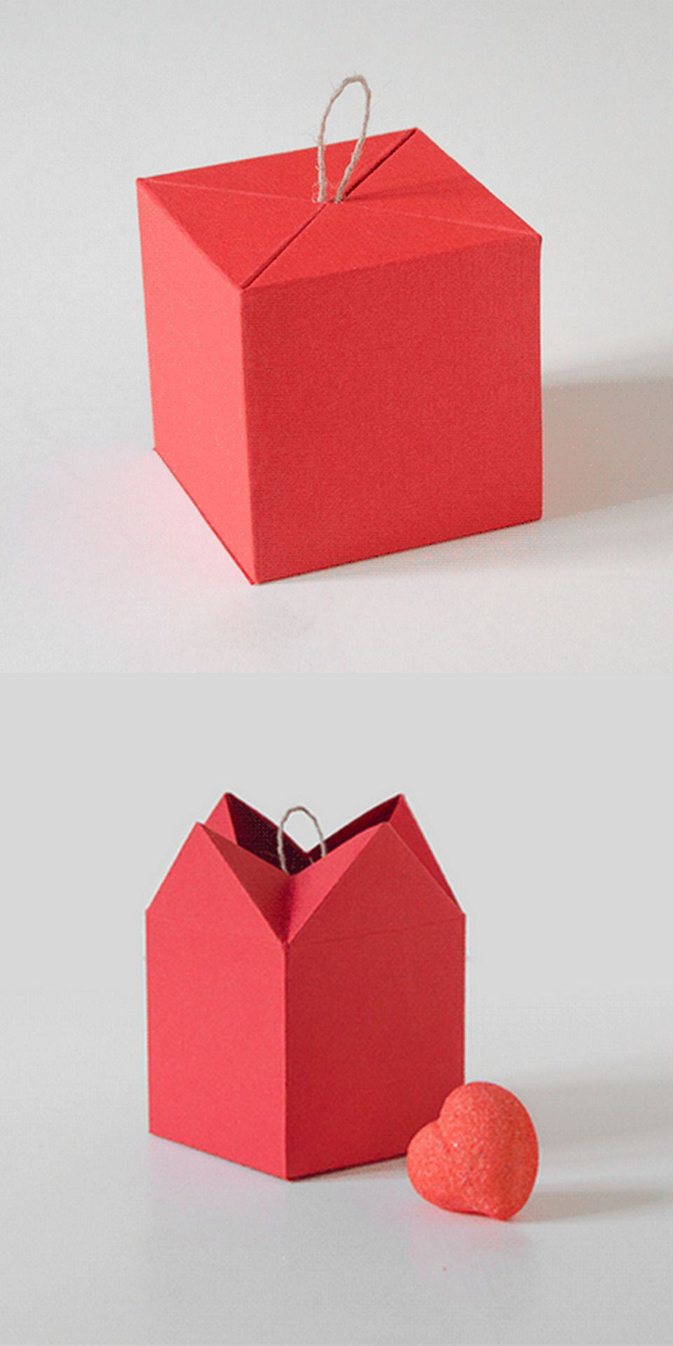 Unfolding cube box