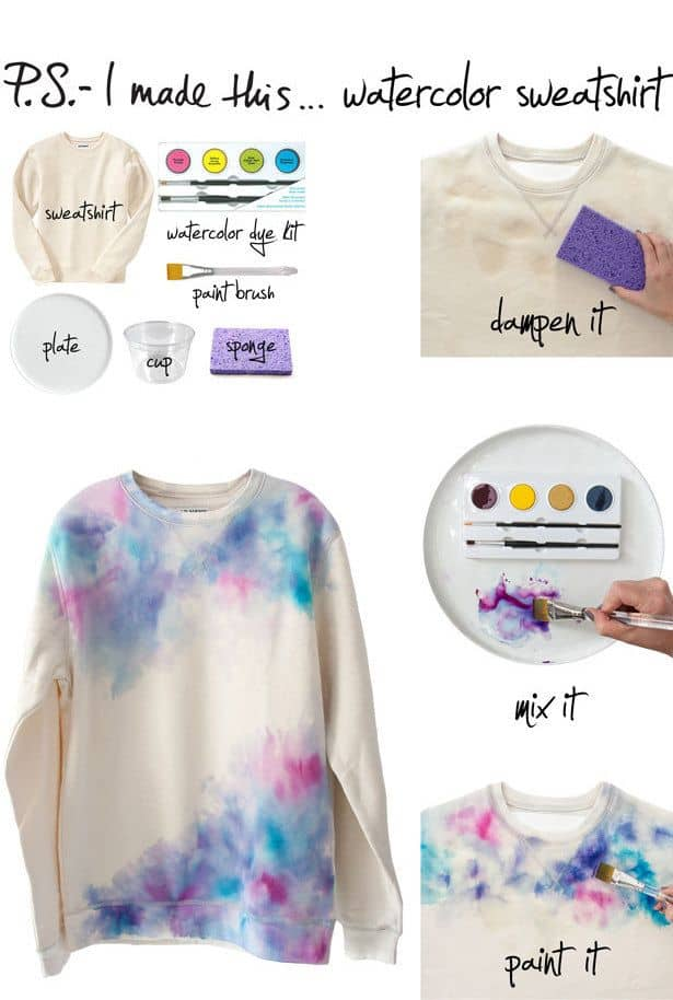 Water colour sweatshirt