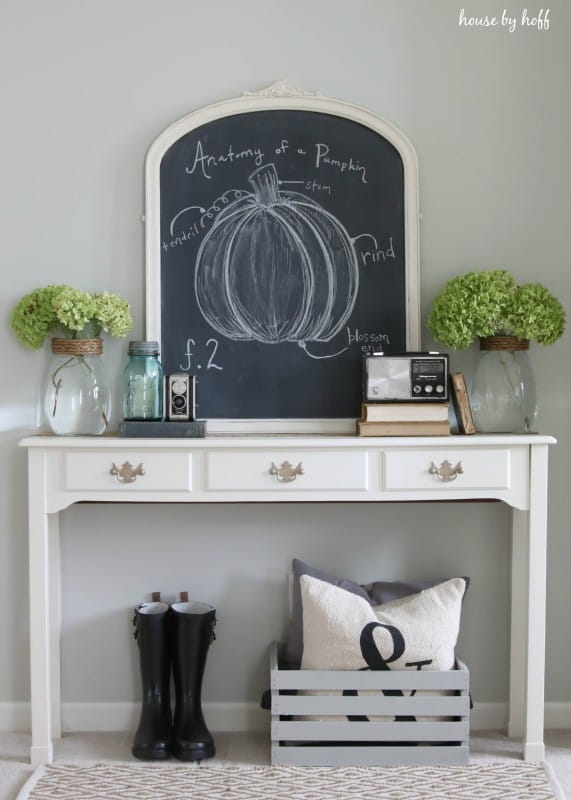 Anatomy of a pumpkin fall chalkboard idea