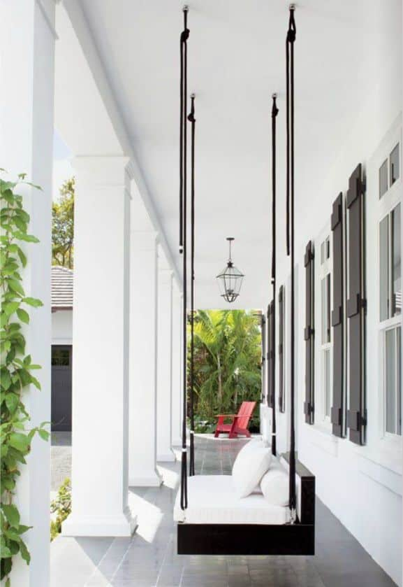 Architectural porch swing