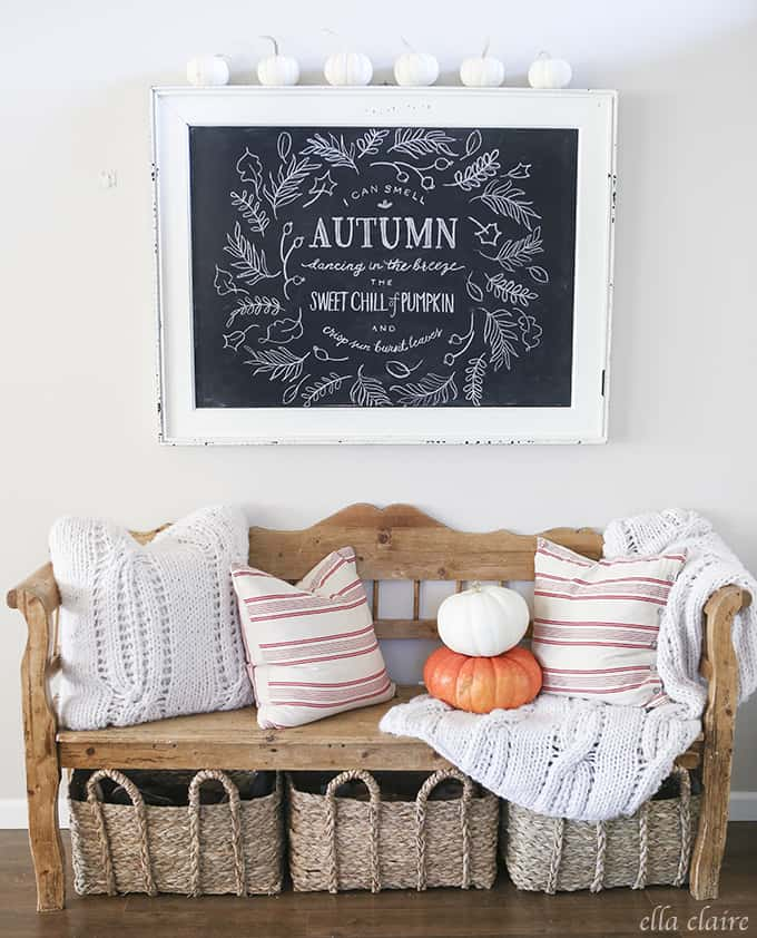 Autumn chalkboard fall idea