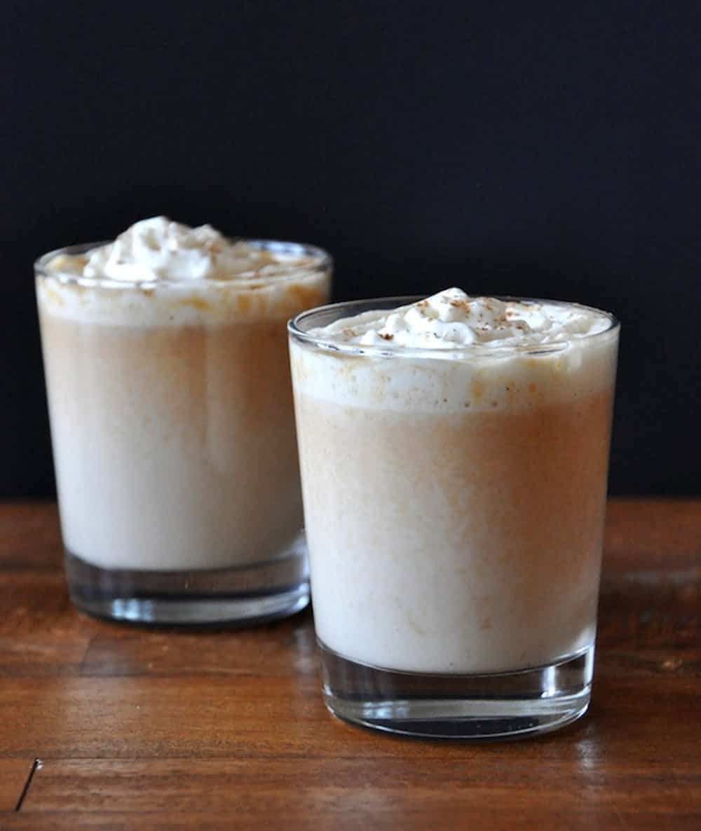 Boozy pumpkin white hot chocolate